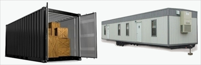 Los Angeles Storage Containers Mobile Office Trailers and Portable